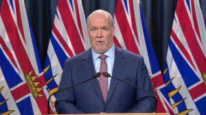 Premier John Horgan on plans to shut down cross-border meetings at Peace Arch Park (02:55)