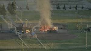 Blaze at Jaycee Slowpitch Park doused by Calgary firefighters