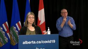 Alberta hoping to move into Phase 3 of COVID-19 vaccinations in mid- to late May: Hinshaw (01:04)