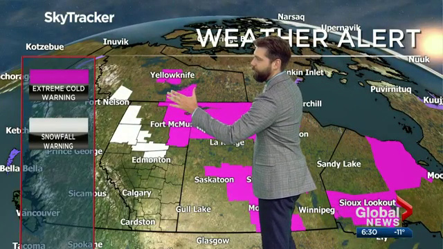 Snowfall warning issued for parts of central and northern Alberta