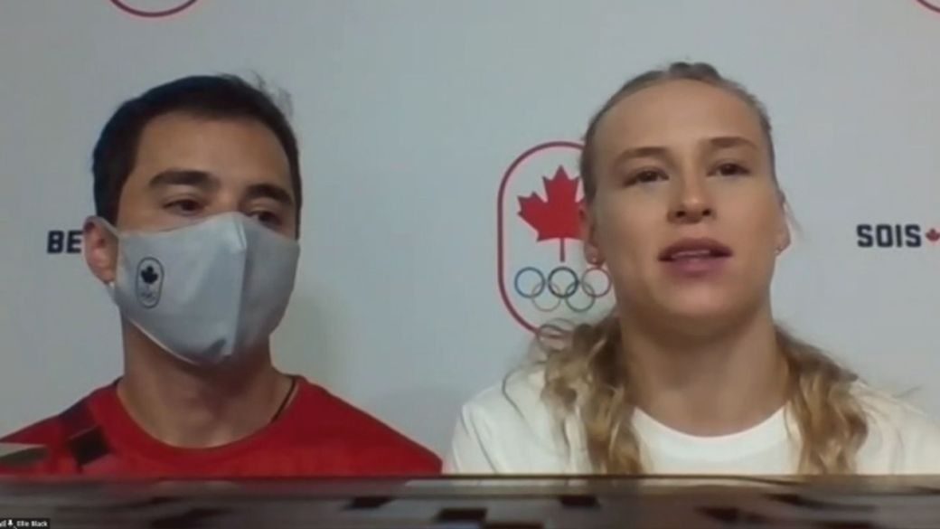 Click to play video: ''We are just human': Ellie Black comments on Simone Biles' withdrawal for mental health'