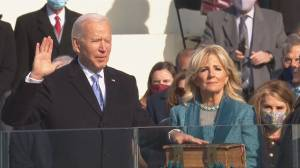 President Biden preaches healing and unity in unprecedented U.S. inauguration ceremony (02:13)