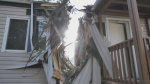 B.C. windstorm wreaks havoc on home in Central Kootenays (01:53)