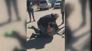 Video shows altercation between Indigenous woman, loss prevention officer (01:18)