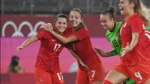 Team Canada kicks U.S. out of running for women's soccer Olympic gold (01:52)
