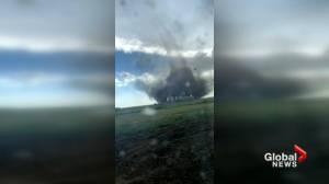 Three tornadoes strike western Saskatchewan (01:44)