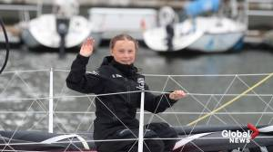 Greta Thunberg arrives in New York City after completing journey across Atlantic