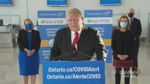 Coronavirus: Ford says he was 'very, very clear' that ministers should not travel (01:45)