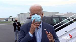Coronavirus: Biden says he's 'clear' after COVID-19 test, urges Trump to get tested (01:54)