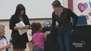 Rachel Nicol inspires students at her former Lethbridge school