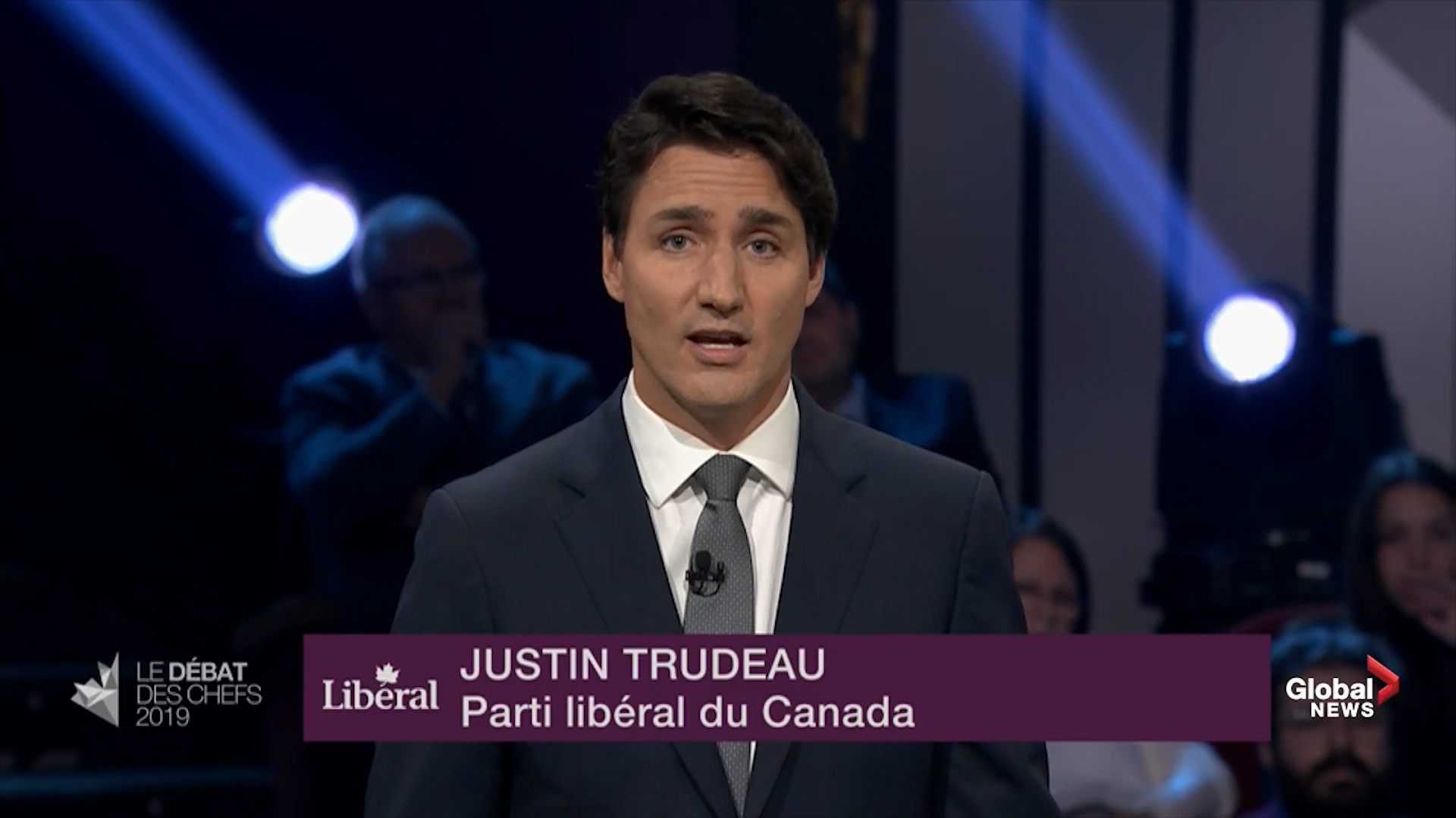 Leader's Debate: Trudeau says Canada must stand up to 'oil barons' on climate change