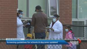 Ontario government releases new parent screening guidelines for schools and daycare centres