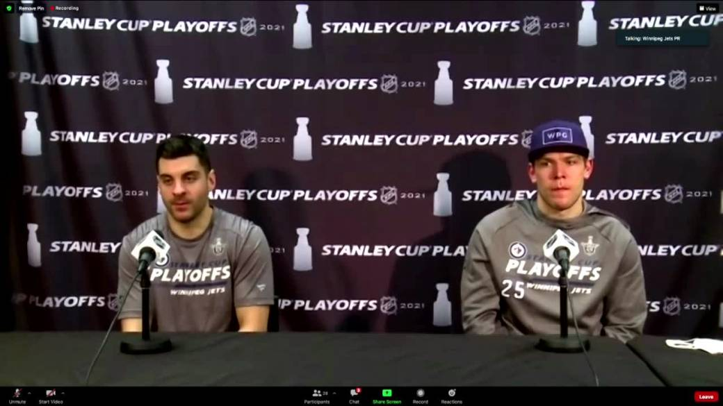 'Dylan DeMelo and Paul Stastny talk  aft  Game 2 win'