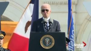 Biden praises 'heroism' of Capitol Police officers during Jan. 6 attack (02:11)