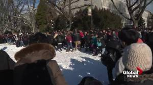 UBC hosts annual giant snowball fight