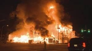 Massive fire rips through Langley condo complex (03:30)