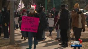 Alberta Labour Relations Board holds emergency hearing into AUPE wildcat strike (01:32)