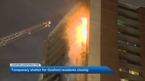 Some residents displaced by an apartment building fire in Toronto's north end moving to hotels