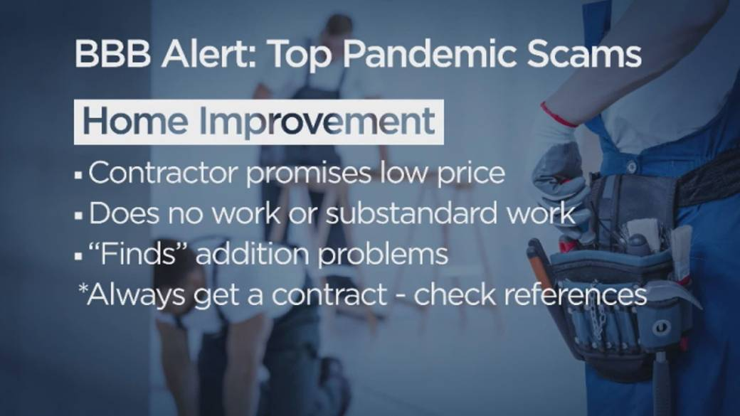 Click to play video 'BBB releases new list of top pandemic scams'