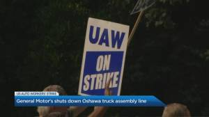 U.S. auto workers strike affects General Motor's Oshawa truck assembly line