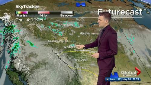 Edmonton afternoon weather forecast: Thursday, May 28, 2020 | Watch News Videos Online