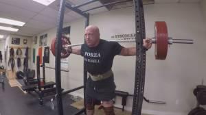 Stuntman Paul Lazenby prepares for powerlifting championships (02:30)