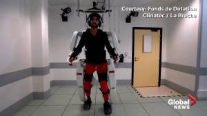 Paralyzed man walks again using brain-controlled exoskeleton