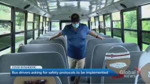 Union representing over 2,500 Ontario school bus drivers worried for members safety amid pandemic