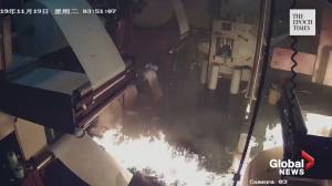 Masked arsonists set fire to Hong Kong printing press