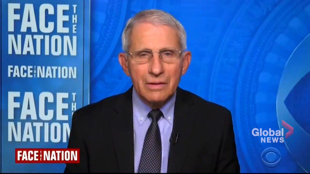 Click to play video: 'Dr. Fauci explains science behind new CDC mask recommendations in U.S. amid pandemic'