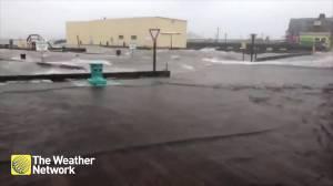 Halifax waterfront turns into large splash pad during Hurricane Dorian