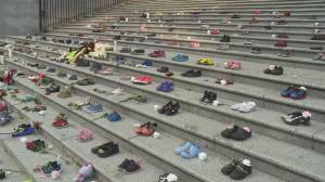 Memorial held at Vancouver Art Gallery for children who died at residential schools (01:52)