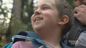 Calgary girl diagnosed with leukemia summiting mountains for kids cancer fundraiser (02:14)