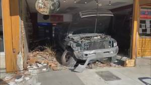 Investigation after truck crashes into Horseshoe Bay business (02:06)