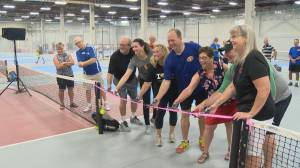 'An important outlet': long sought-after pickleball facility opens in Regina (01:46)