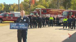 Conservative leader Andrew Scheer announced tweak to niche tax credit for volunteer firefighters