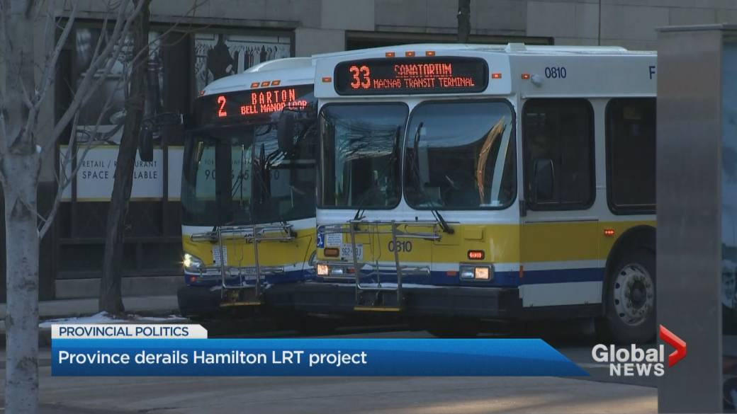 Click to play video: 'Hamilton LRT project derailed as province claws back funding'