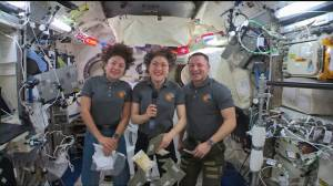 NASA astronauts celebrate Thanksgiving on board International Space Station
