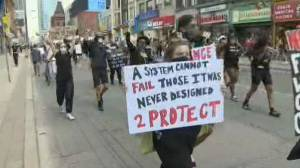 Thousands march in Toronto against racism, police brutality