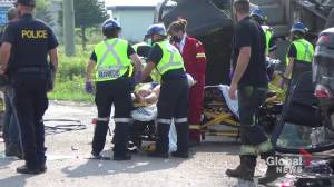 Double rollover on Hwy. 7 east of Peterborough (00:38)