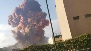 Massive explosion shakes Lebanon's capital, Beirut