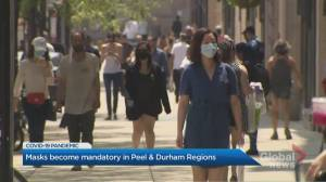 Face masks now mandatory in Peel and Durham indoor Public spaces