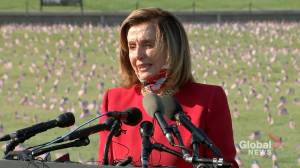 Coronavirus: Pelosi calls to not politicize coronavirus response during COVID-19 memorial visit