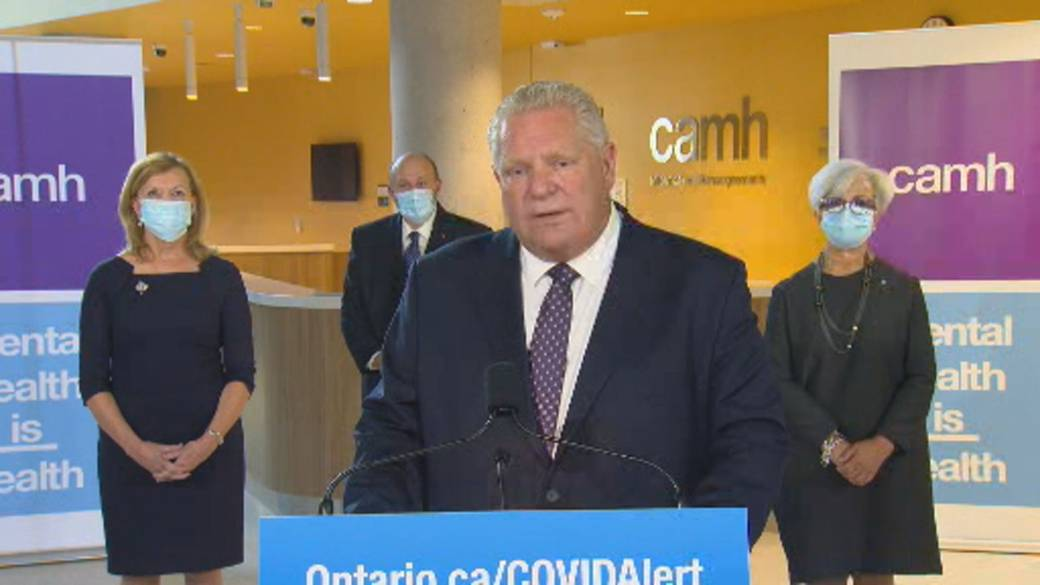 Click to play video 'Coronavirus: Doug Ford says they'll target 'bad actors,' won't close Toronto businesses amid pandemic'