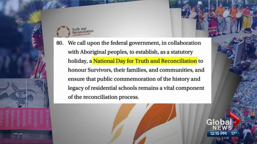 Click to play video: 'Meaningful ways to mark Canada's first-ever Truth and Reconciliation Day'
