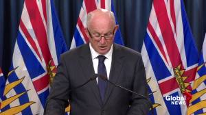 Public safety minister tells tourists to avoid travel to areas of B.C. Interior due to fire danger (02:47)