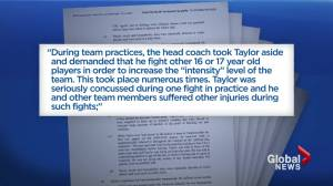 Former Lethbridge Hurricanes player teams up with Daniel Carcillo for class action lawsuit (02:11)