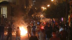 Beirut explosion: Protesters take to city streets following devastating blast