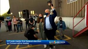 Canada election: Muted optimism as Conservative Leader Erin O'Toole eyes Ontario's 905 region (01:52)