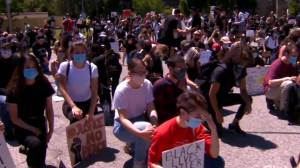 Hundreds march in protest against anti-Black racism in Toronto